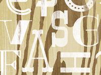 Alphabet on Plywood