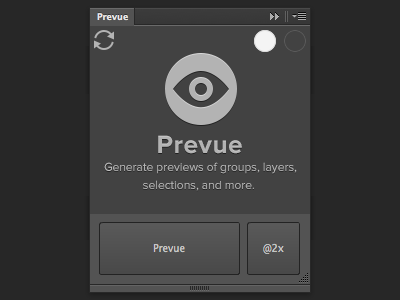 Prevue for Photoshop photoshop plugin extension prevue groups layers retina @2x cc cs6 script generate