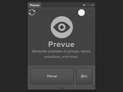 Prevue for Photoshop photoshop plugin extension prevue groups layers retina @2x cc cs6 script generate