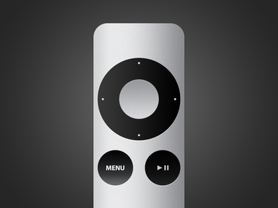 Apple TV Remote apple tv remote psd