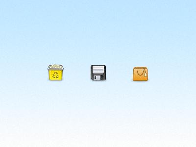 Cons icons icon set bin floppy bag 32 disk icon