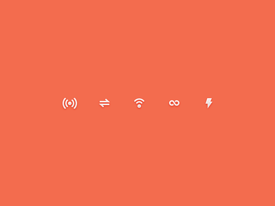 Abandoned Connections icons connection minis orange pixel ui in out 16 set linked px bolt