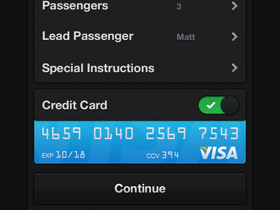 Taxi meat iphone ios button dark visa credit card booking pick up driver taxi