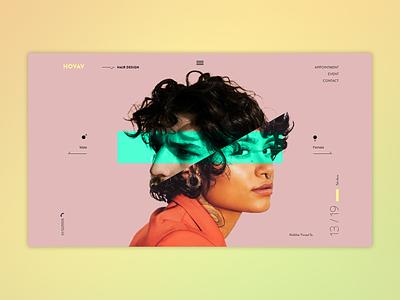 Hair design studio uix web typography web design homepage hairdesign