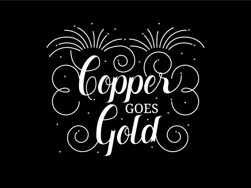Poster Heading (NYE 2017) for Copper Spirits & Sights illustration customtype handlettering