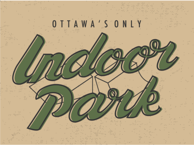 """Lettering for """"The Yard"""" Indoor Park"""