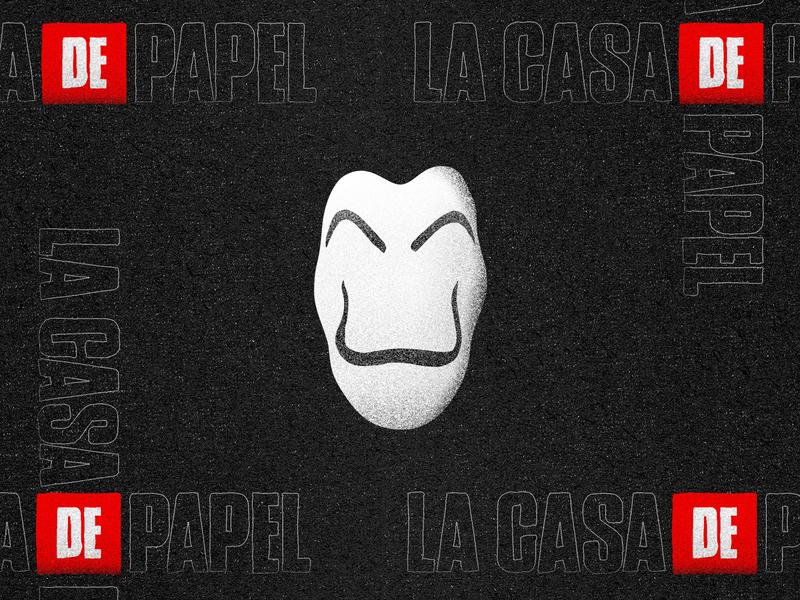 La Casa de Papel Mask character minimal lacasadepapel netflix red black white @andrepicarra symbol logo identity mark icon illustration design mask