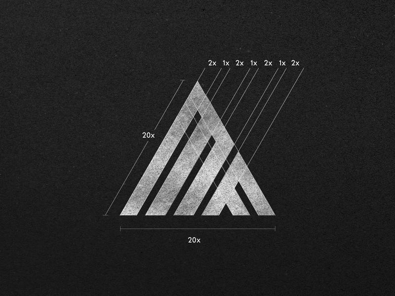 MF Logo Design - Rebranding fitness fit gym triangle pyramid mf guides minimal icon rebranding branding mark design monogram letter identity logo @andrepicarra