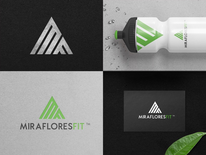 MF Logo Design - Rebranding black green initials gym fitness fit business card businesscard monogram mark logotype design logo identity branding @andrepicarra