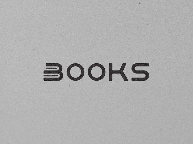 BOOKS Wordmark Challenge simple minimalism minimal gray black branding wordmark mark design logotype identity logo @andrepicarra