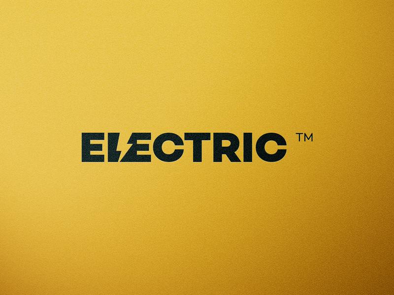 Electric Wordmark Challenge letters thunderbolt negativespace negative space logo word wordmark @andrepicarra branding identity logo thunder