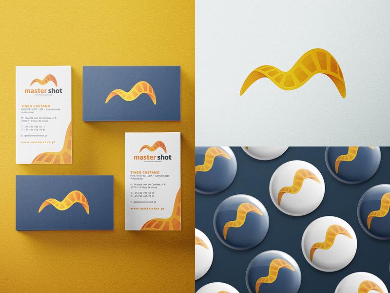 M Branding for Mastershot letter logotype yellow orange gradient video film movie letter m m icon identity logo @andrepicarra branding