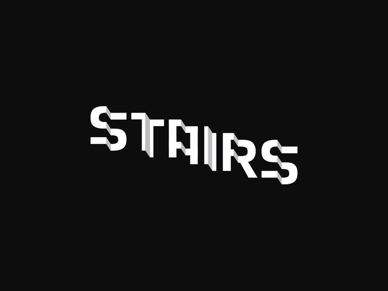 Stairs Wordmark Challenge black  white word mark stairs letters wordmark logotype @andrepicarra branding logo