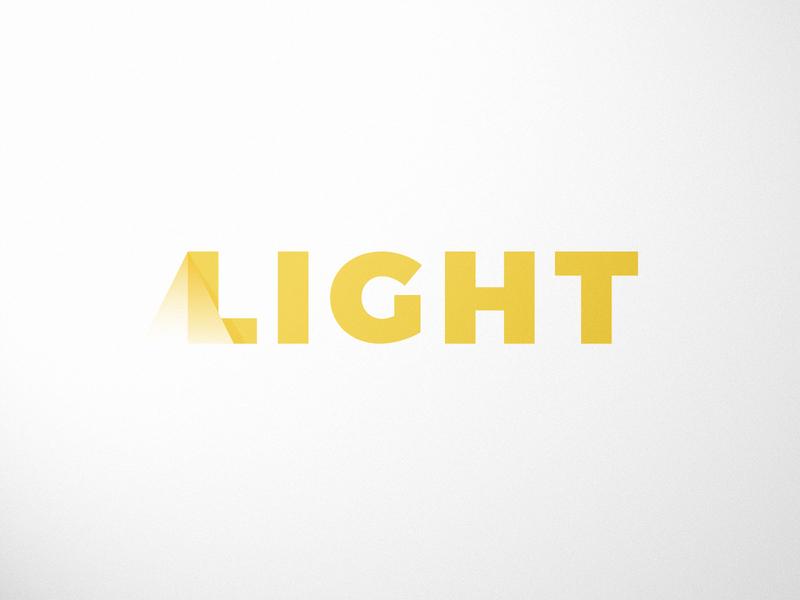 Light Wordmark Logo logo design light logo wordmark logo simple logo gradient logo gradient minimal mark design branding yellow word light logo @andrepicarra wormark
