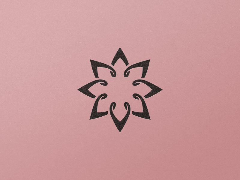 Flower Logo Design symetry black rose flower symbol monogram @andrepicarra mark branding identity logo