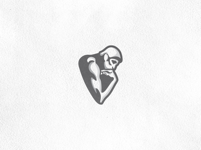 The Thinker rodin auguste philosophy hand mind muscle person human man gray logotype logo