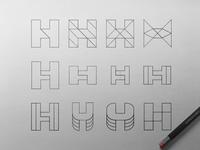 H Tech Logo Exploration II