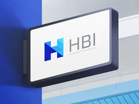 HBI Logo on a Signboard