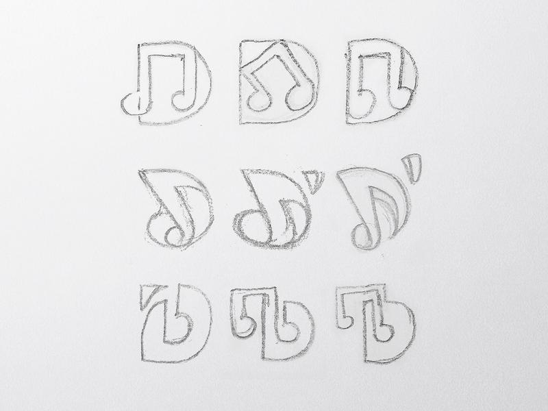 D ' Dance + Music Logo design logotype symbol monogram letter d letter mark icon @andrepicarra branding logo