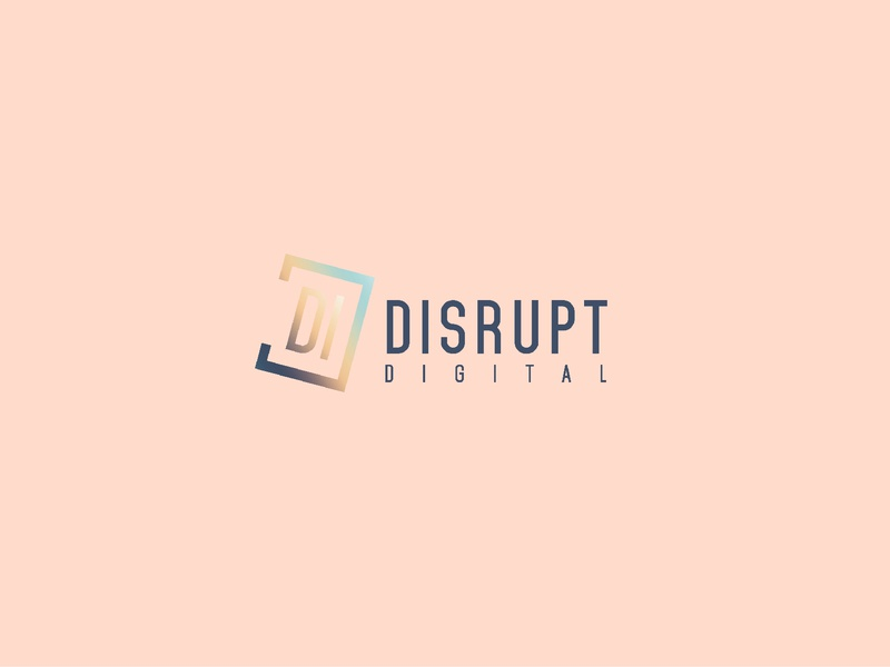 Disrupt Digital logo brand and identity logo graphic  design design branding