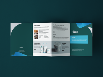 Maa Chemicals Brochure leaflet design brochure design brand and identity graphic  design design branding