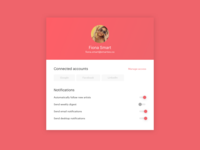 Daily UI 007, User Settings