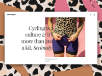 Al's Bicycles - Landing page