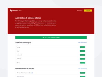 Application & Service Alerts