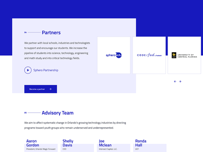 Gordon Family Giving Foundation + CodeOrlando design white ux web design desktop minimal simple blue clean website web landing page ui