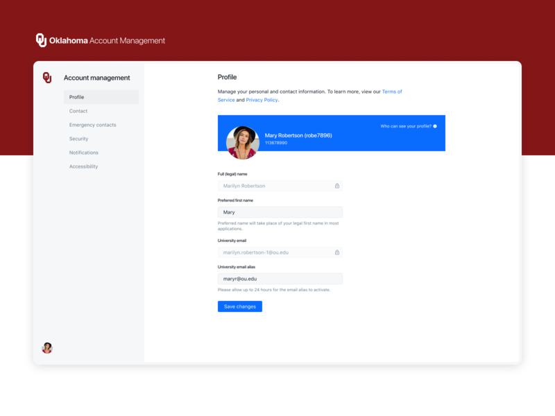 Account Management settings account user inteface user experience blue white minimal clean simple design ux ui