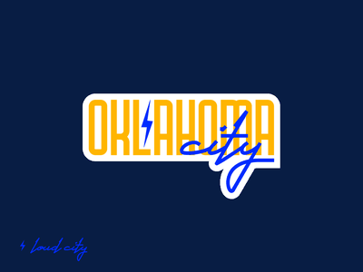 Weekly Warm-Up 1: Hometown Sticker type font lettering display oklahoma city thunder oklahoma city thunder okc dribbble weekly warm-up weekly warm-up warm-up weekly sticker