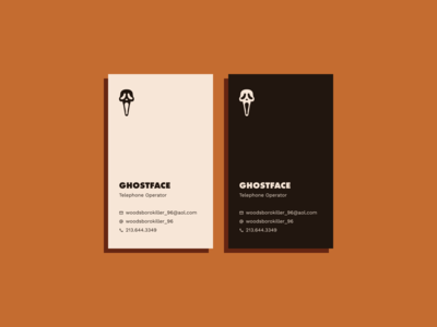 Dribbble Weekly Warm-Up #2 -- Hero/Villain Business Card