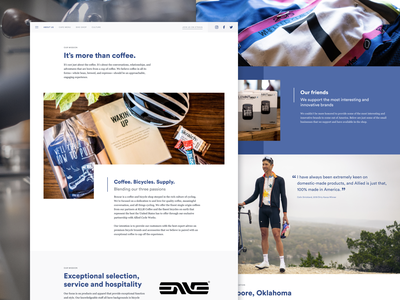 Unused concept -- Boxcar Coffee & Bicycles marketing landing modern ui bike bicycles simple clean web coffee