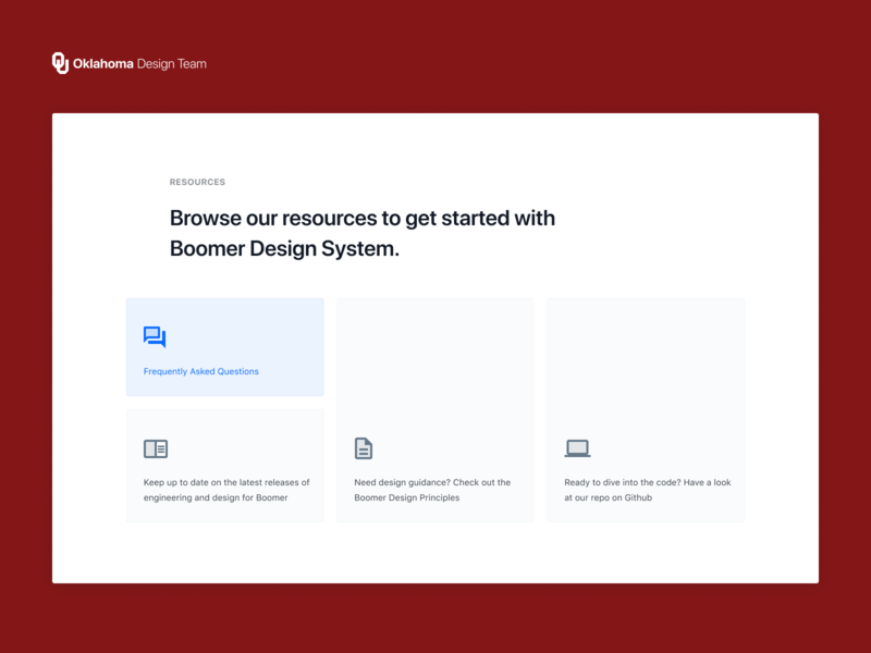 Design System Resources minimal clean white figma react ui knowledge help support design system education landing resources