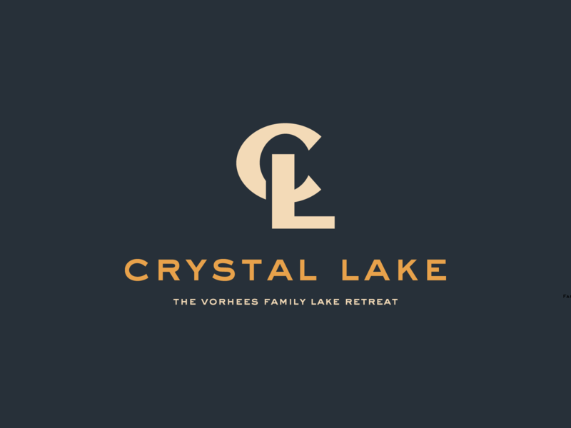 Crystal Lake Family Resort gentrification typography type challenge friday the 13th crystal lake resort logo monogram branding tour of terror