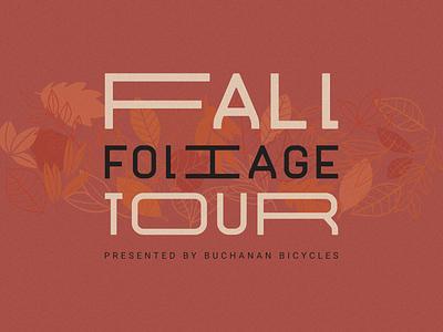 Fall Foliage Tour 2019 noise autumn typography type poster cycling tour foliage fall