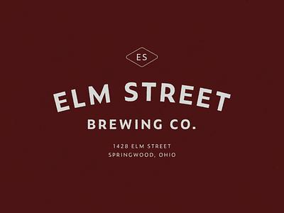 Tour of Terror | Elm Street Brewing Co. october elm street beer brewery brewing badge mark logo branding zeitung pro typography type tour of terror