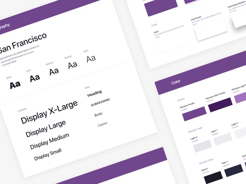 Olympus Design System (beta) front-end development product design user interface system visual design design system
