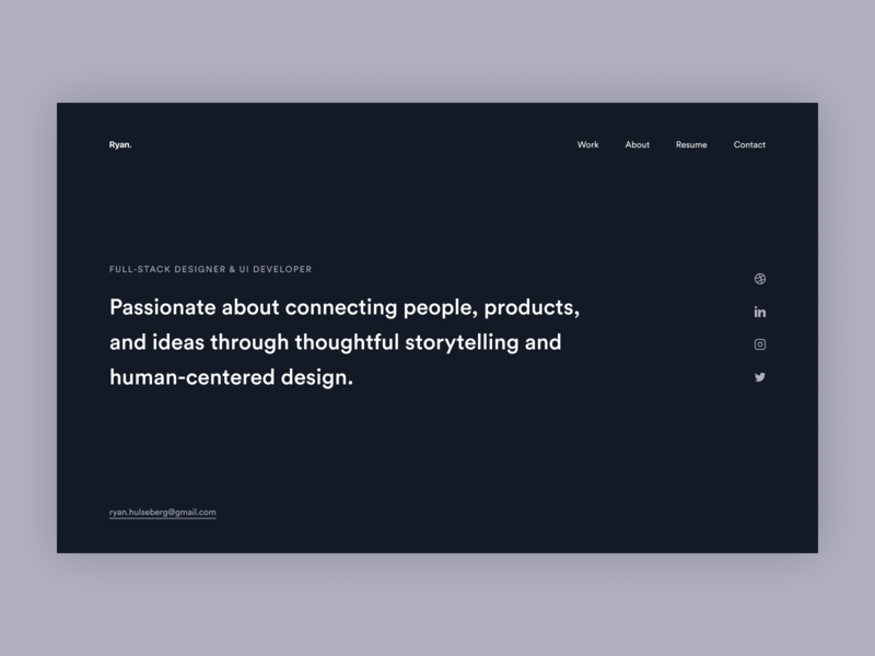 2020 Personal Site Update 🥳 figma homepage whitespace minimalist typography personal site design system product design ux ui dark white minimal clean landing page website portfolio personal