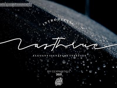 Lasthrue Elegant Signature handwritting typeface script monoline designs wedding logos projects branding beauty elegant ink typography font design calligraphy handlettering