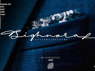 Sighnora Stylish Signature typeface handwritte sign watermark script design wedding logos projects beauty elegant script lettering handlettering script font typography branding