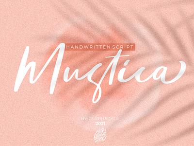 Mustica Handwritten Script logos projects branding beauty elegant fashion cosmetic apparel smooth sweet calligraphy magazine design script lettering font design handlettering typography