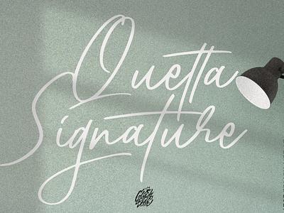Quetta Signature Script magazine wedding logos projects branding beauty elegant fashion cosmetic apparel casual signature typography calligraphy script lettering