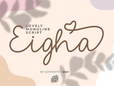 Eigha Lovely Script logos handwritten handwritte handdraw flow cosmetic casual apparel crafting craft script lovely script lettering handlettering typography