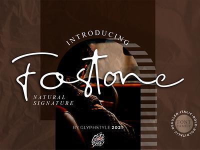 Fostone Natural Signature bold italic free magazine photography handwritte sign watermark script design logos projects branding beauty elegant