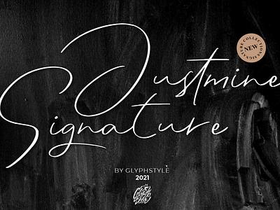 Justmine Signature premium design font design handlettering typography