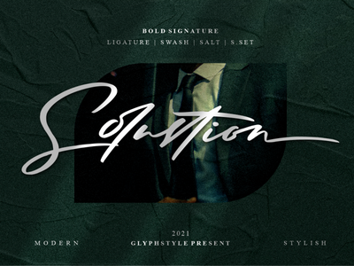 Solustion Bold Signature photography branding