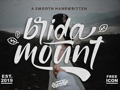 Bridamount Script Font logo luxury logo business card script lettering logo branding apparel design font design handlettering calligraphy branding