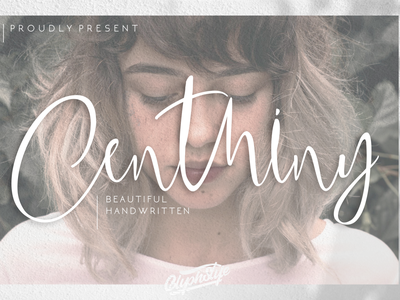 Centhiny - Beautiful Handwritten watermark beauty magazine design script font font design script lettering design luxury logo logo typography handlettering calligraphy branding