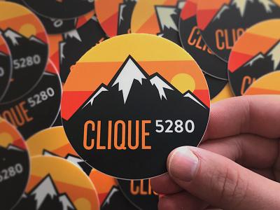 Clique 5280 clique studios sticker illustration